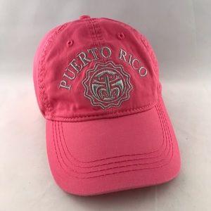 Robin Ruth Pink Puerto Rico Cotton Baseball Cap